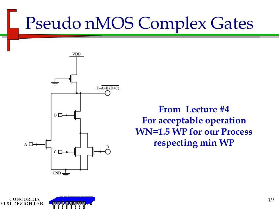Pseudo nMOS Complex Gates