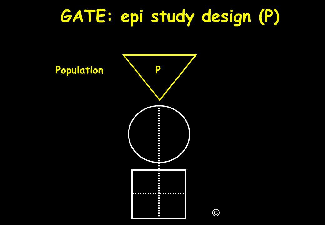 GATE: epi study design (P)