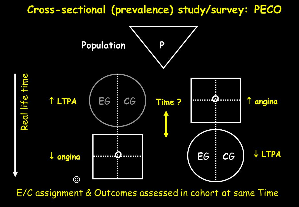 Cross-sectional (prevalence) study/survey: PECO