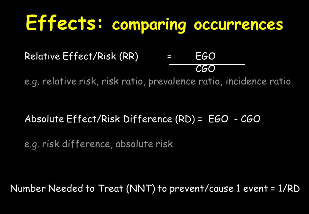 Effects: comparing occurrences