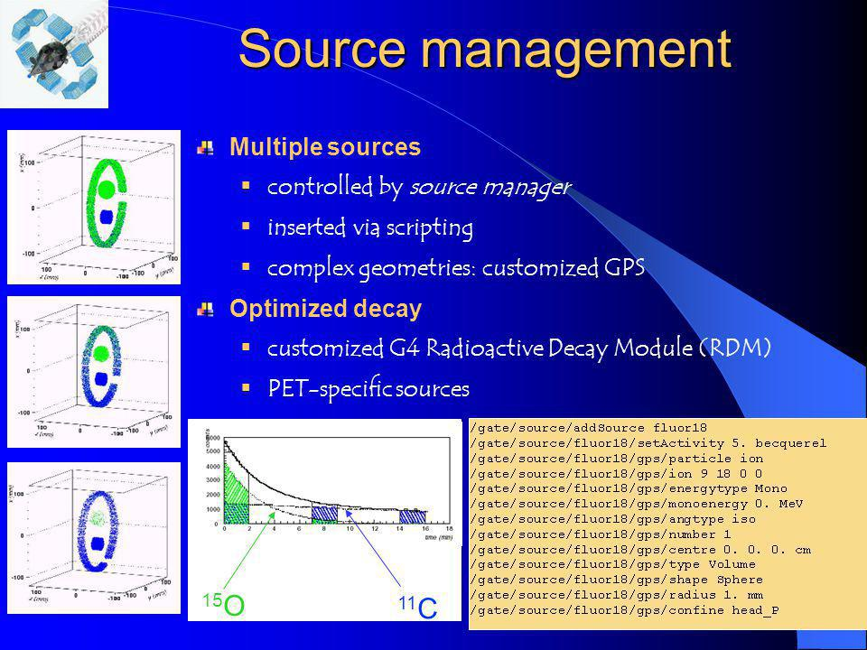 Source management 15O 11C Multiple sources