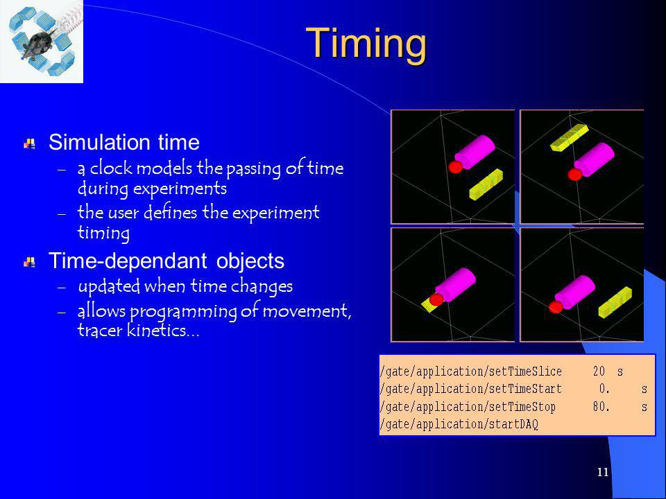 Timing Simulation time Time-dependant objects