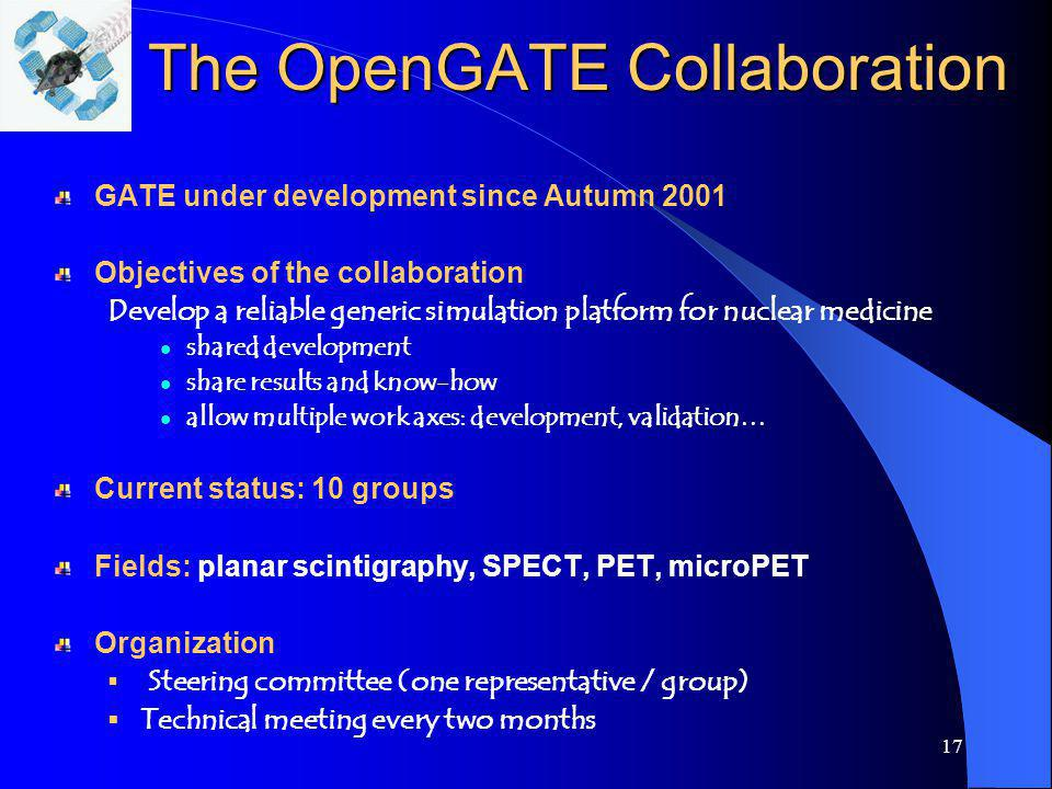 The OpenGATE Collaboration