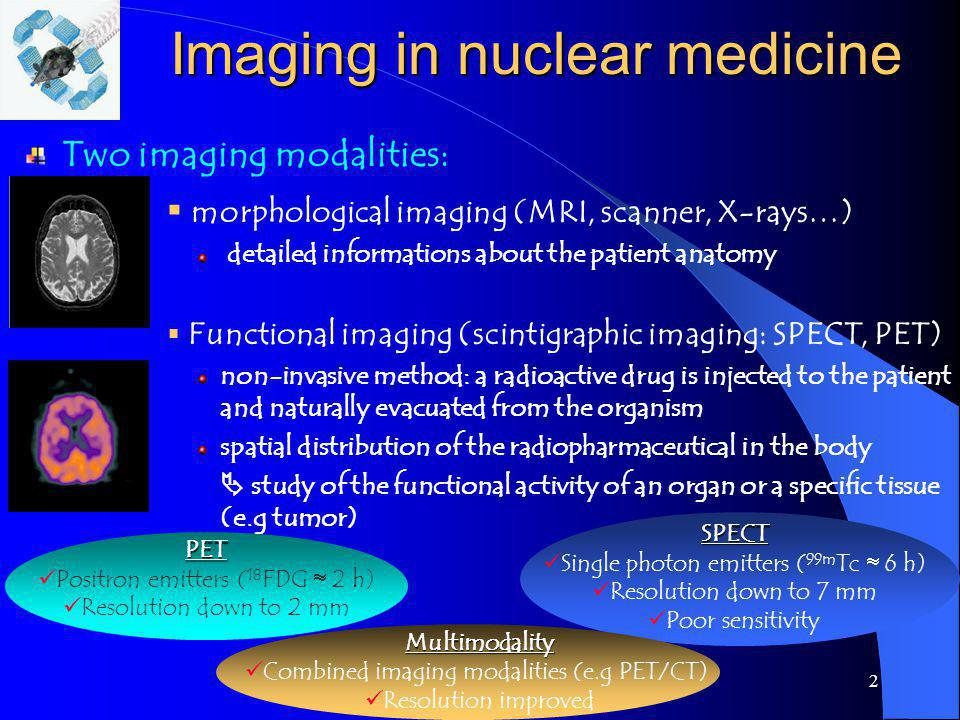 Imaging in nuclear medicine