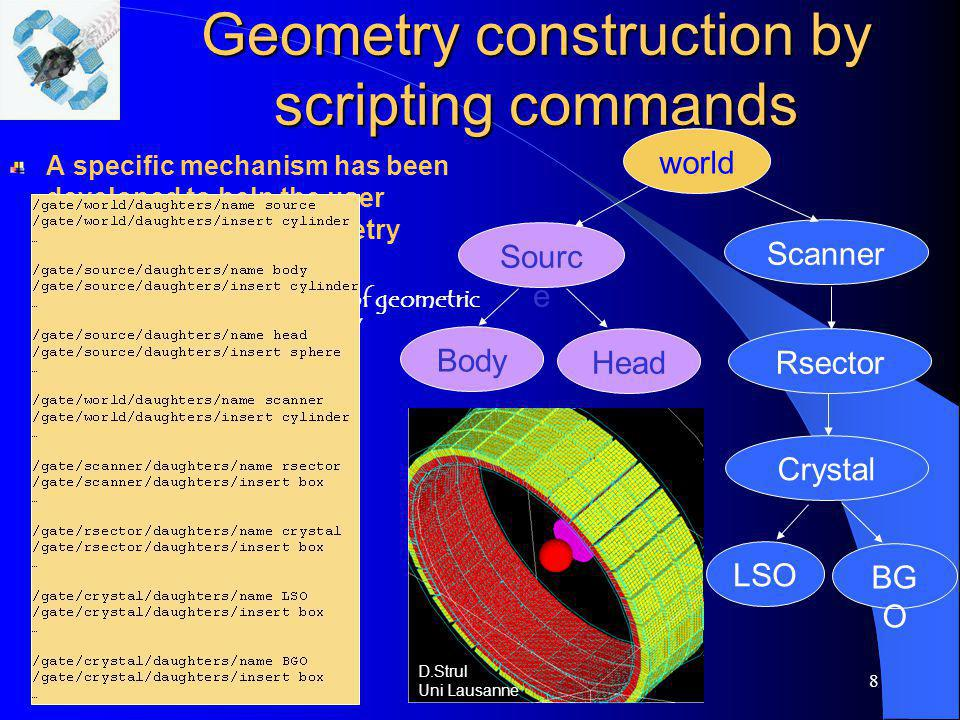 Geometry construction by scripting commands