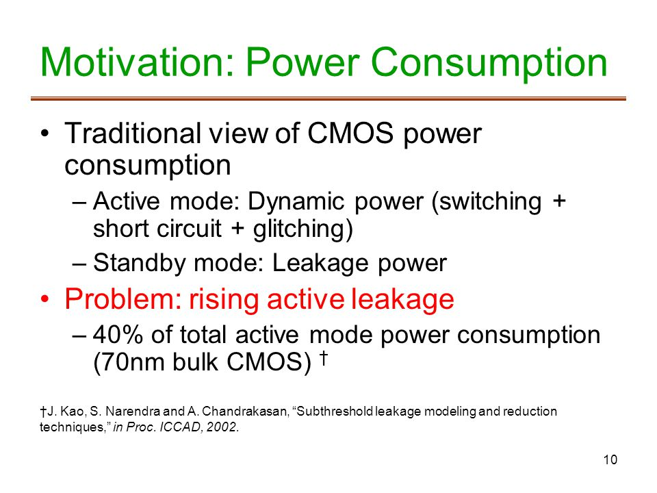 Motivation: Power Consumption