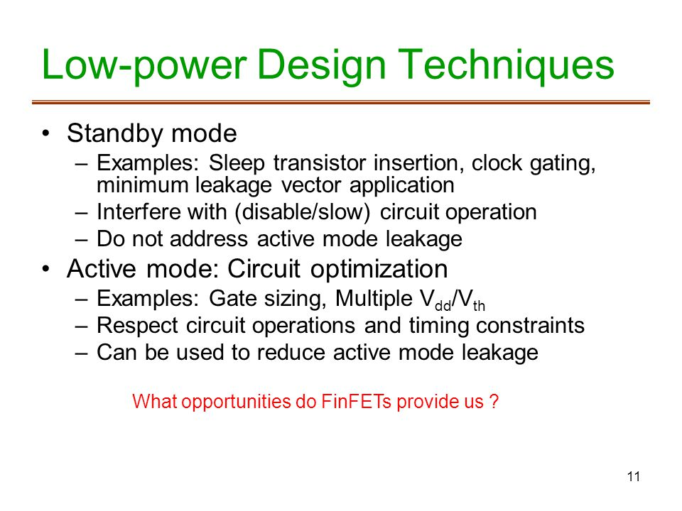 Low-power Design Techniques