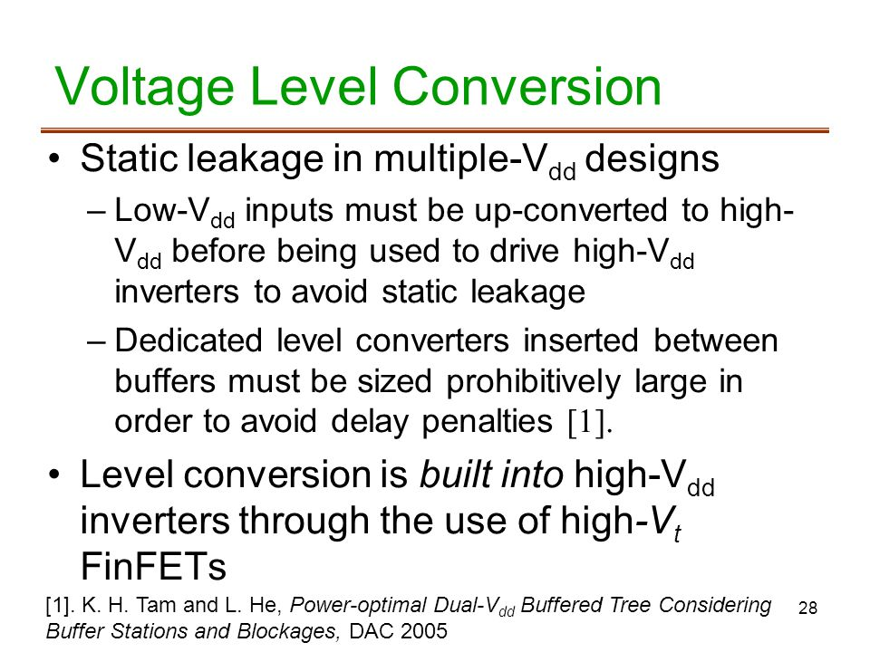 Voltage Level Conversion