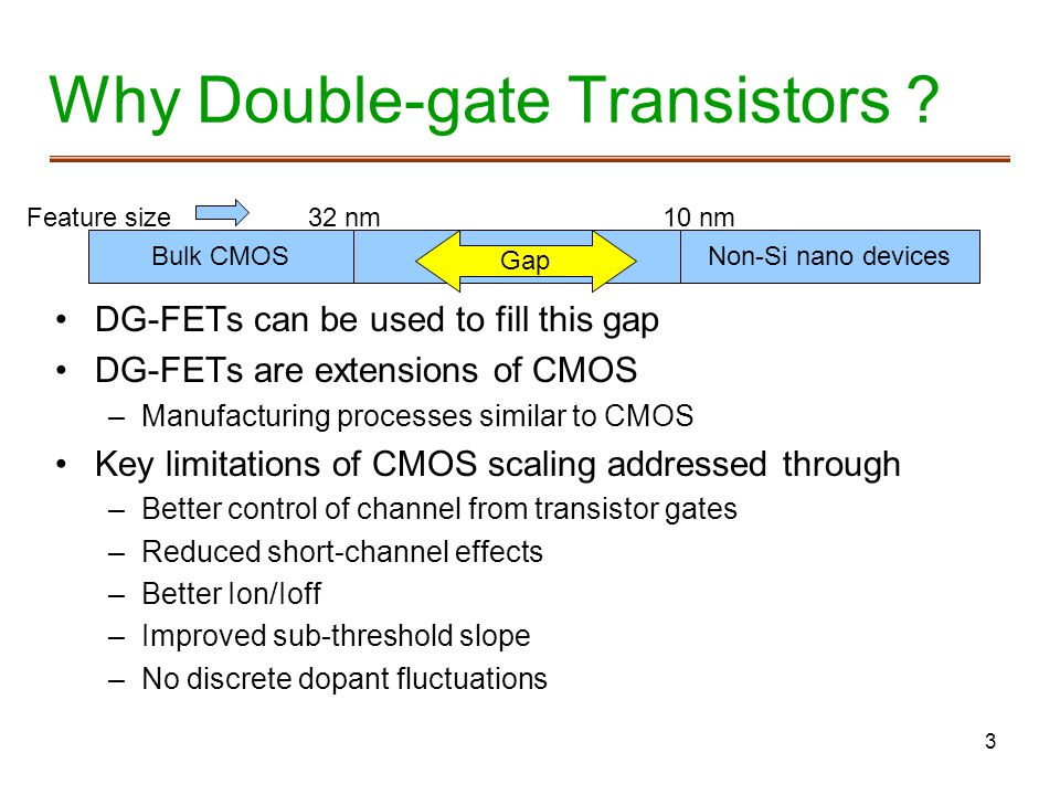 Why Double-gate Transistors