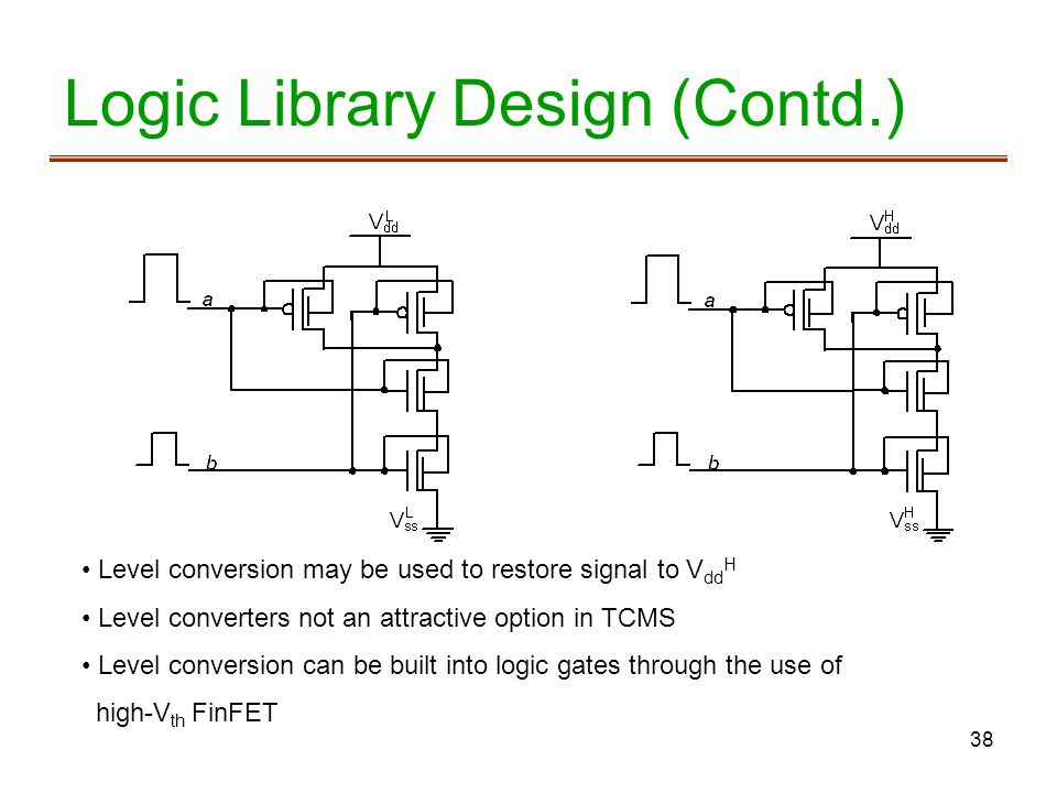 Logic Library Design (Contd.)