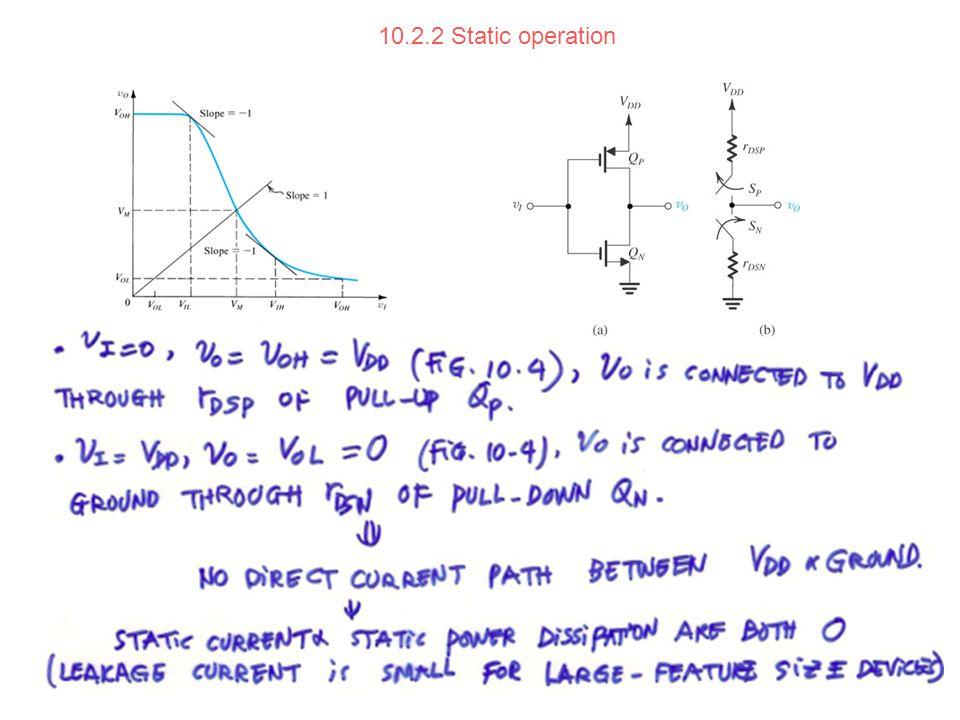 10.2.2 Static operation