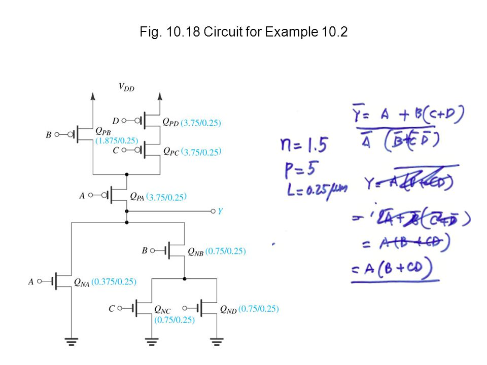 Fig. 10.18 Circuit for Example 10.2