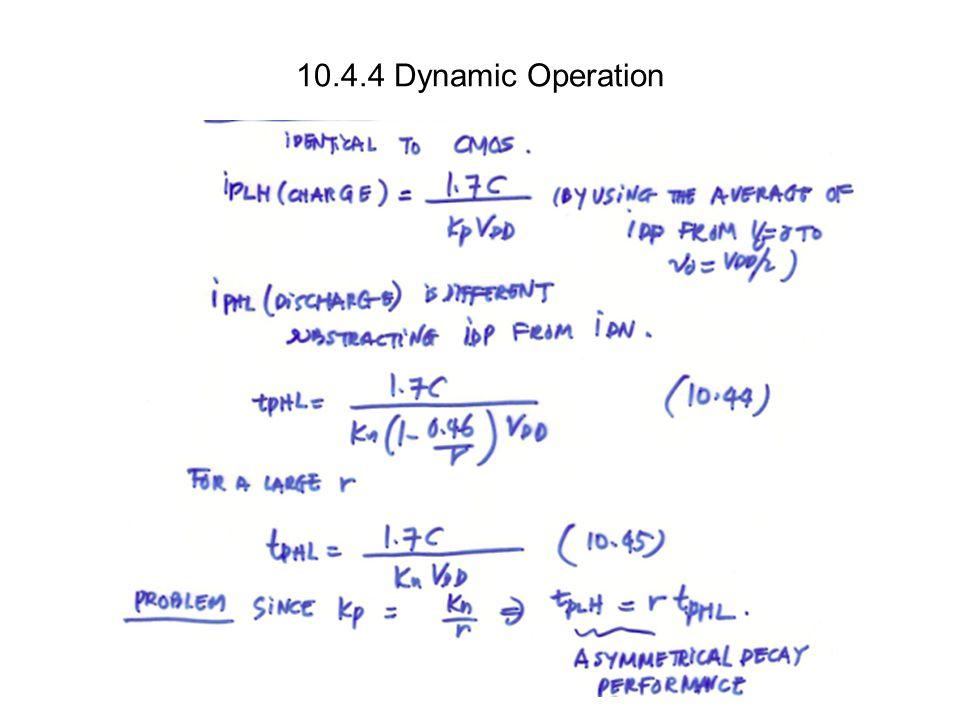 10.4.4 Dynamic Operation