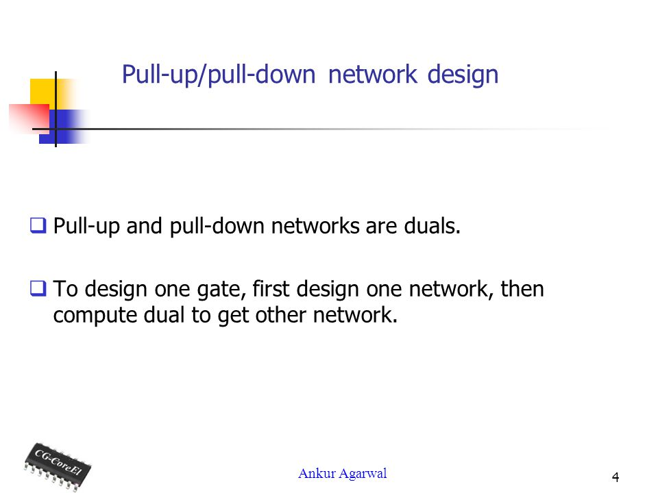 Pull-up/pull-down network design