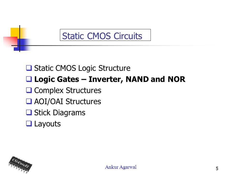 Static CMOS Circuits Static CMOS Logic Structure