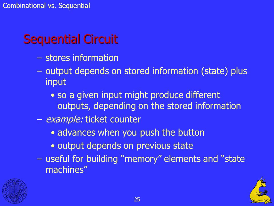 Sequential Circuit stores information
