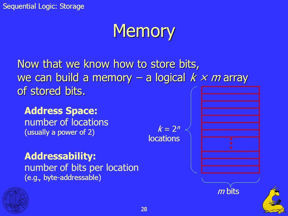 Sequential Logic: Storage