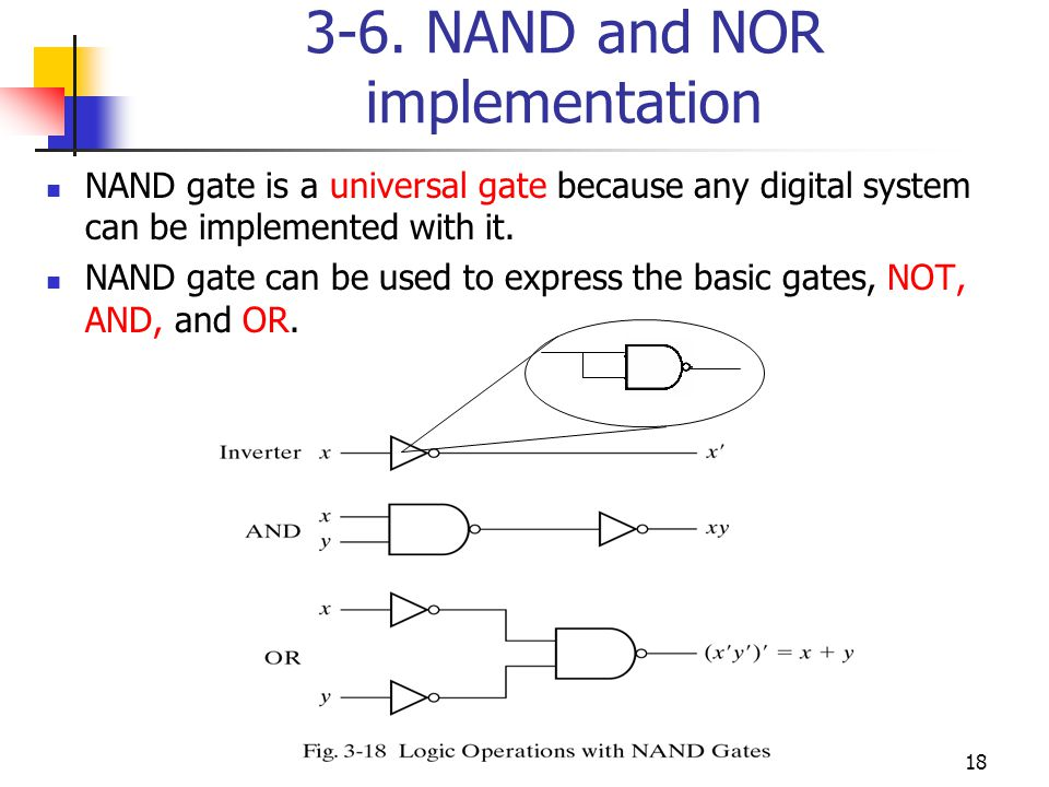 3-6. NAND and NOR implementation