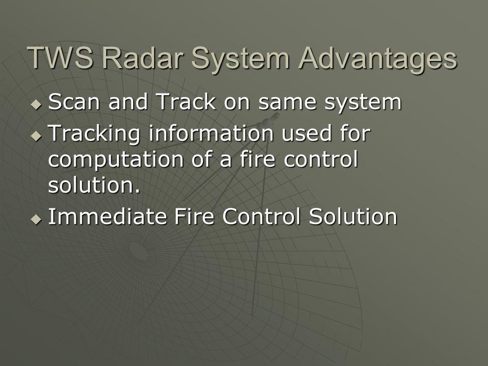 TWS Radar System Advantages