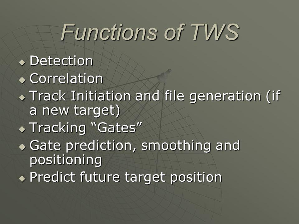 Functions of TWS Detection Correlation
