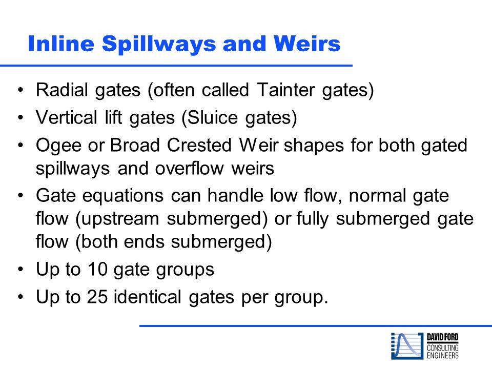 Inline Spillways and Weirs