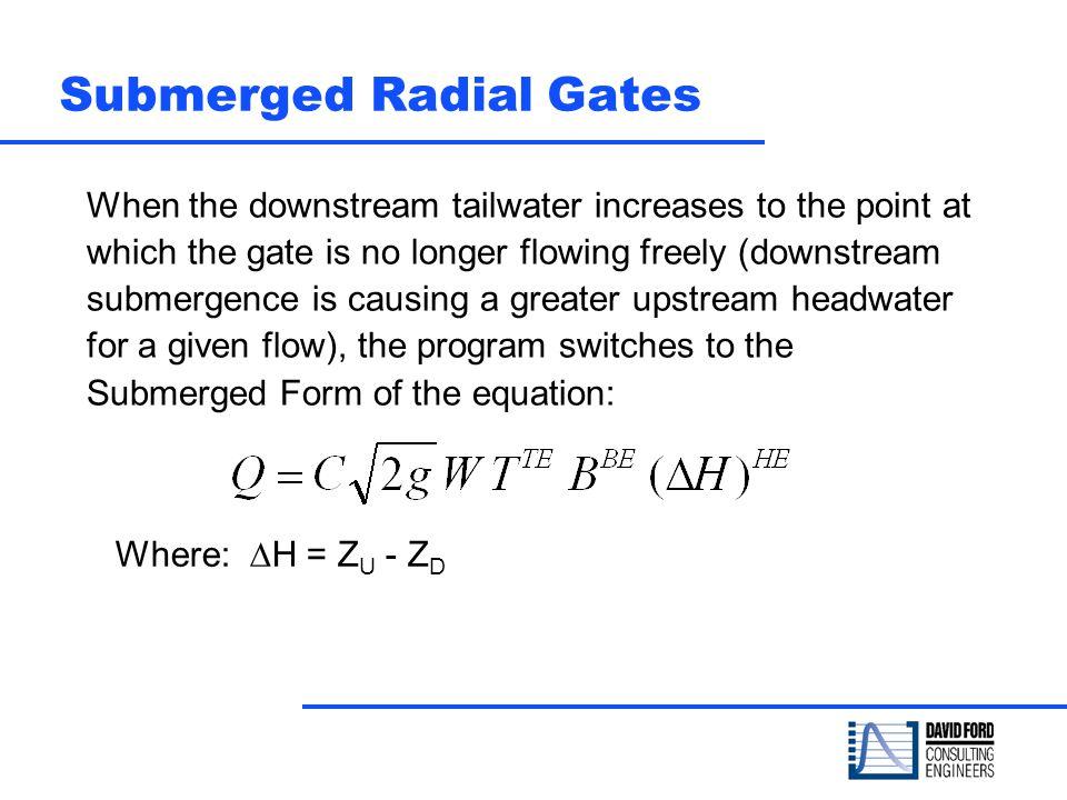 Submerged Radial Gates