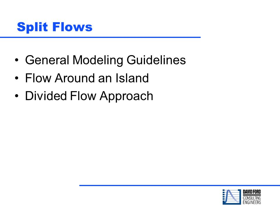 General Modeling Guidelines Flow Around an Island