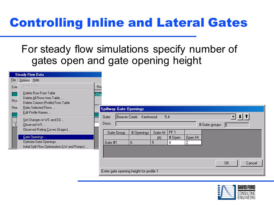 Controlling Inline and Lateral Gates