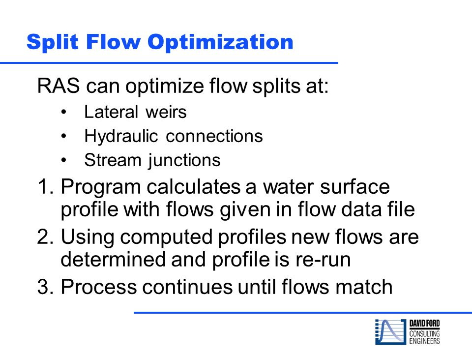 Split Flow Optimization