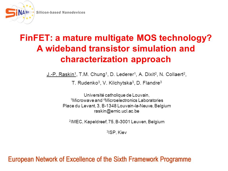 FinFET: a mature multigate MOS technology