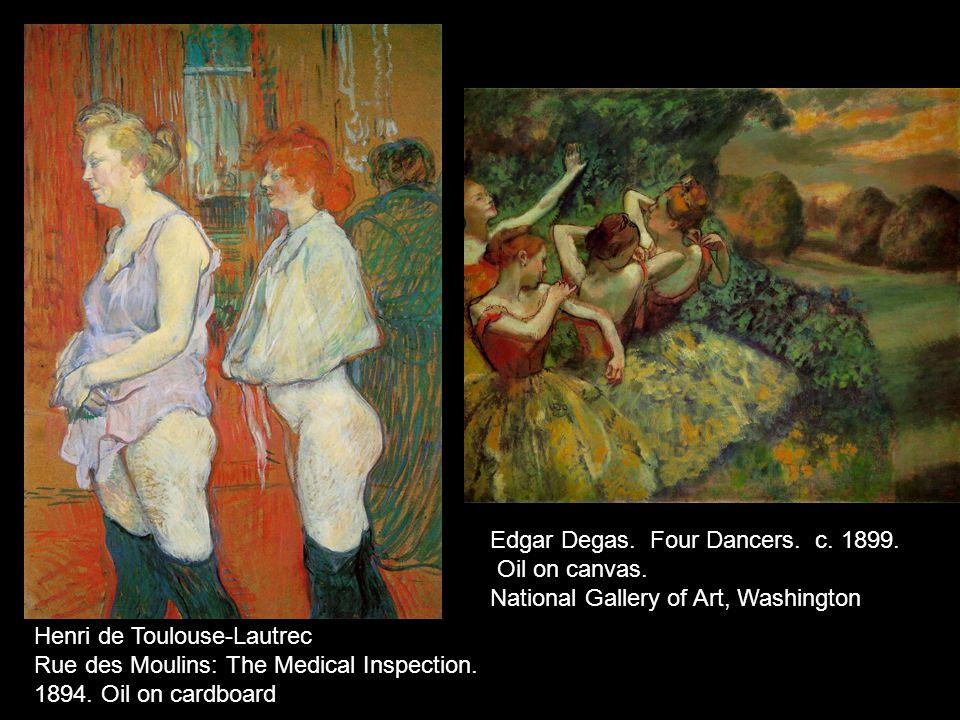 Edgar Degas. Four Dancers. c. 1899.