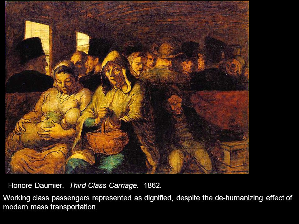 Honore Daumier. Third Class Carriage. 1862.