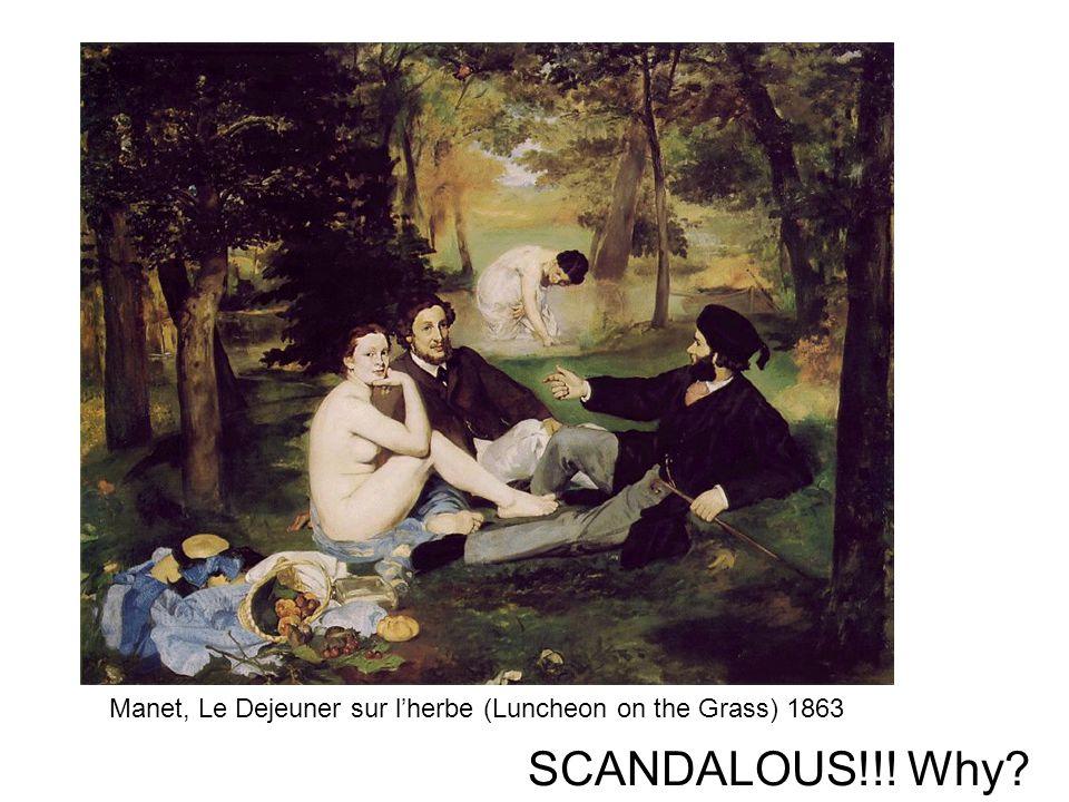 Manet, Le Dejeuner sur l'herbe (Luncheon on the Grass) 1863
