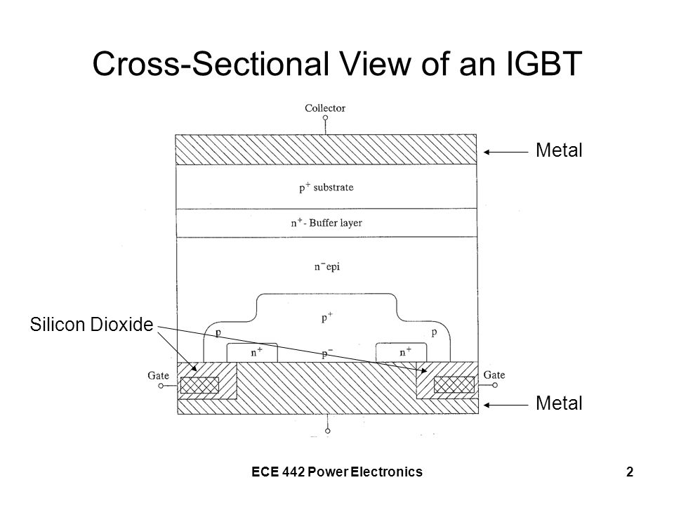 Cross-Sectional View of an IGBT