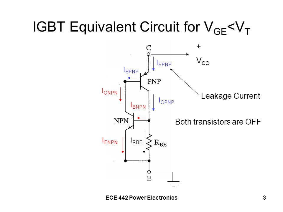IGBT Equivalent Circuit for VGE<VT