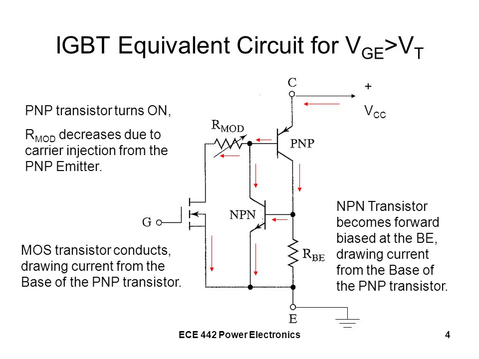 IGBT Equivalent Circuit for VGE>VT