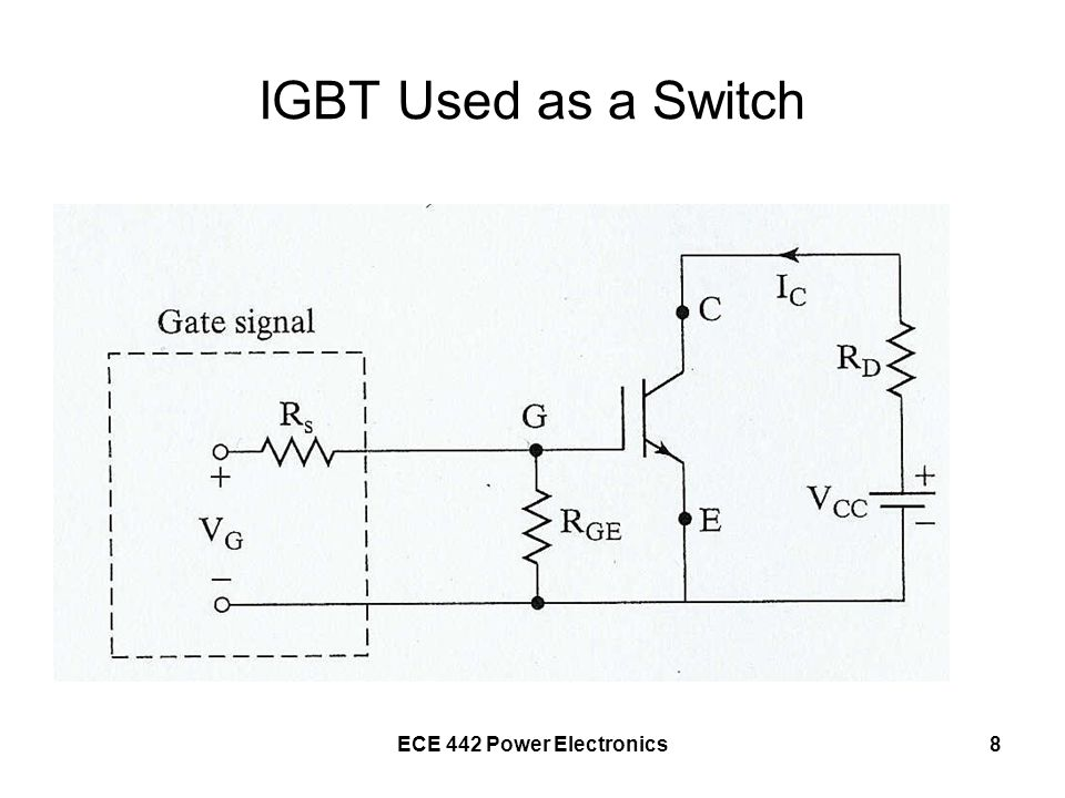 IGBT Used as a Switch ECE 442 Power Electronics