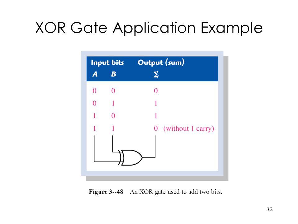 XOR Gate Application Example