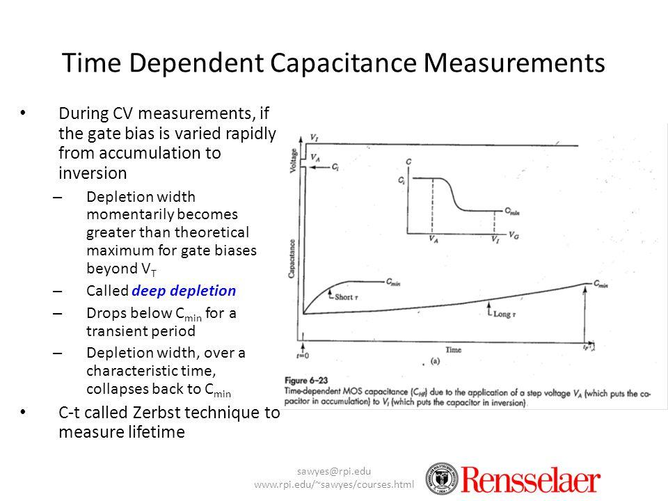 Time Dependent Capacitance Measurements