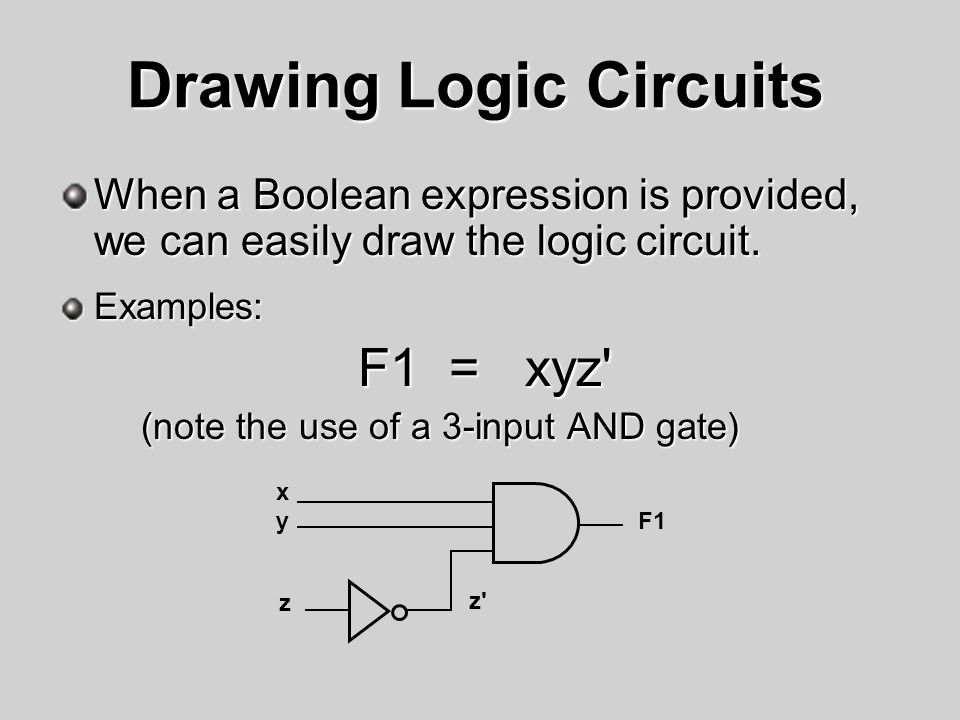 Drawing Logic Circuits