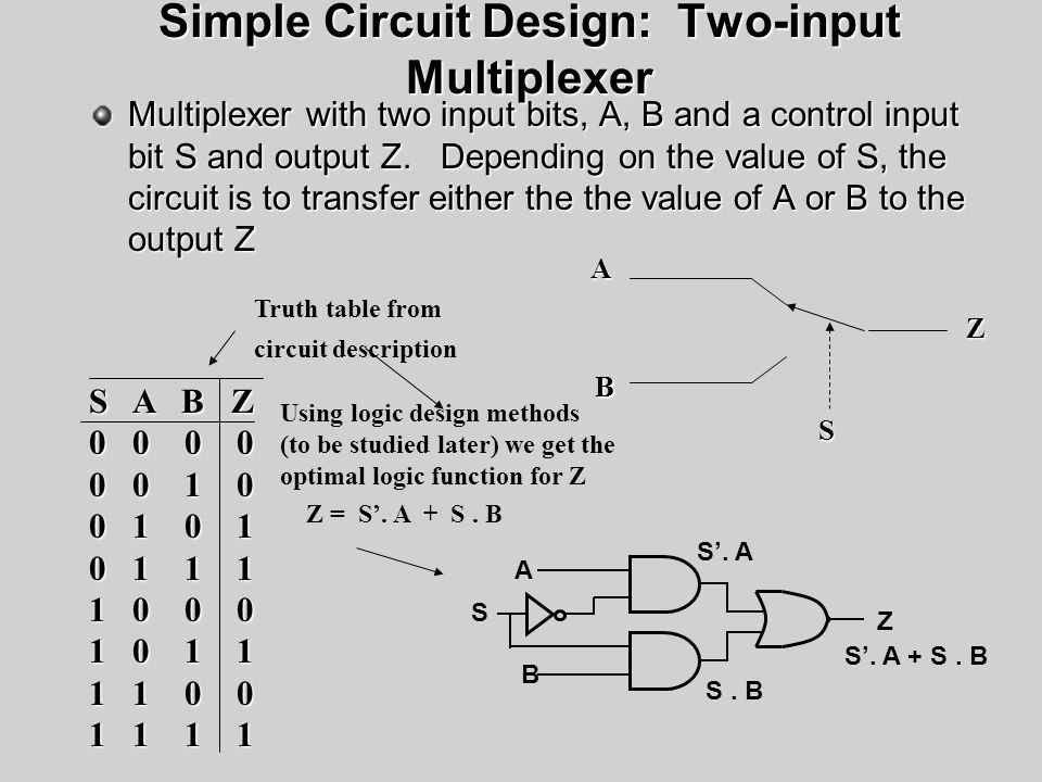Simple Circuit Design: Two-input Multiplexer
