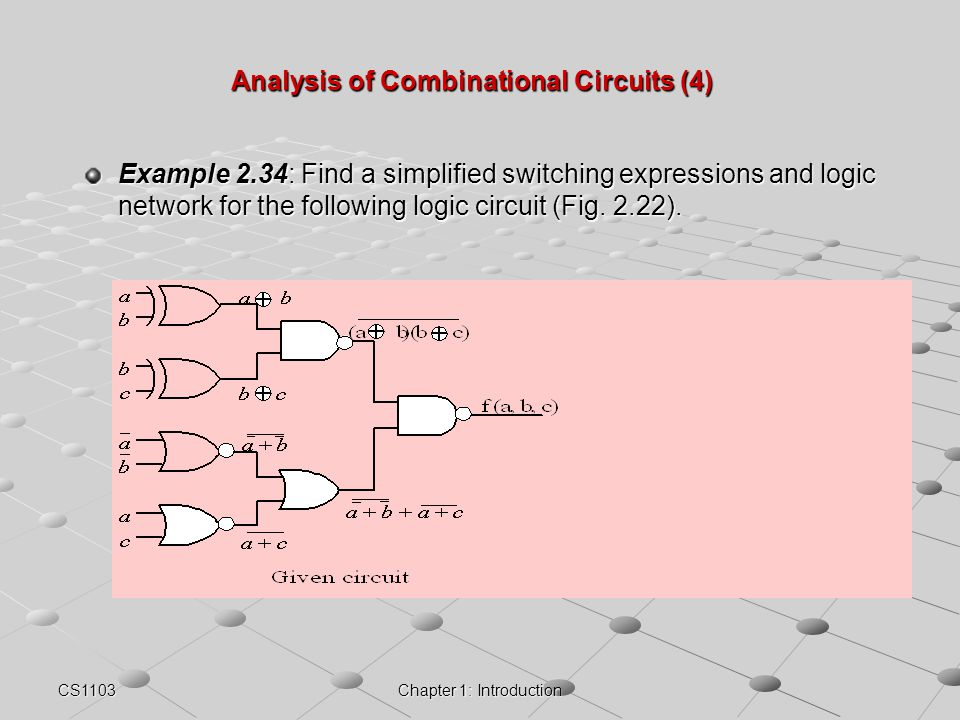 Analysis of Combinational Circuits (4)