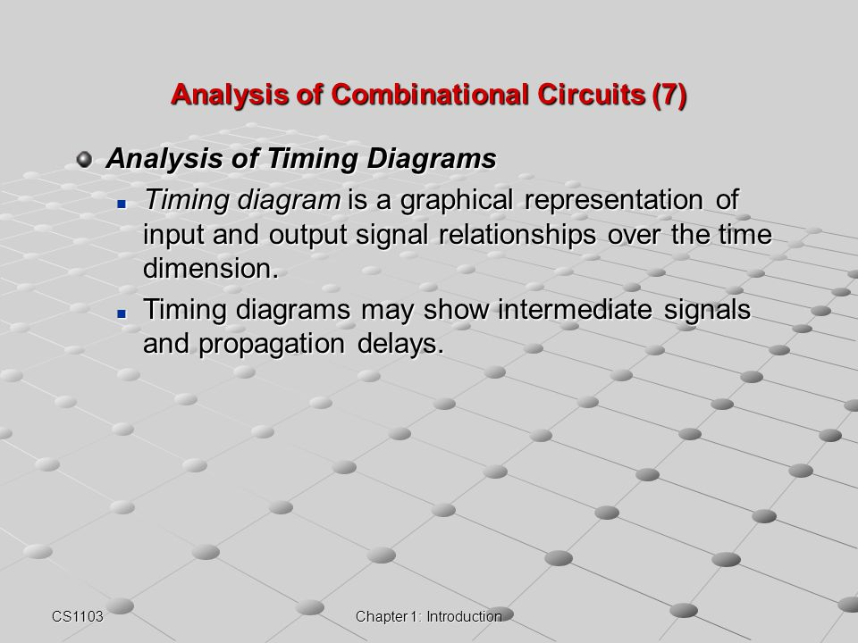 Analysis of Combinational Circuits (7)