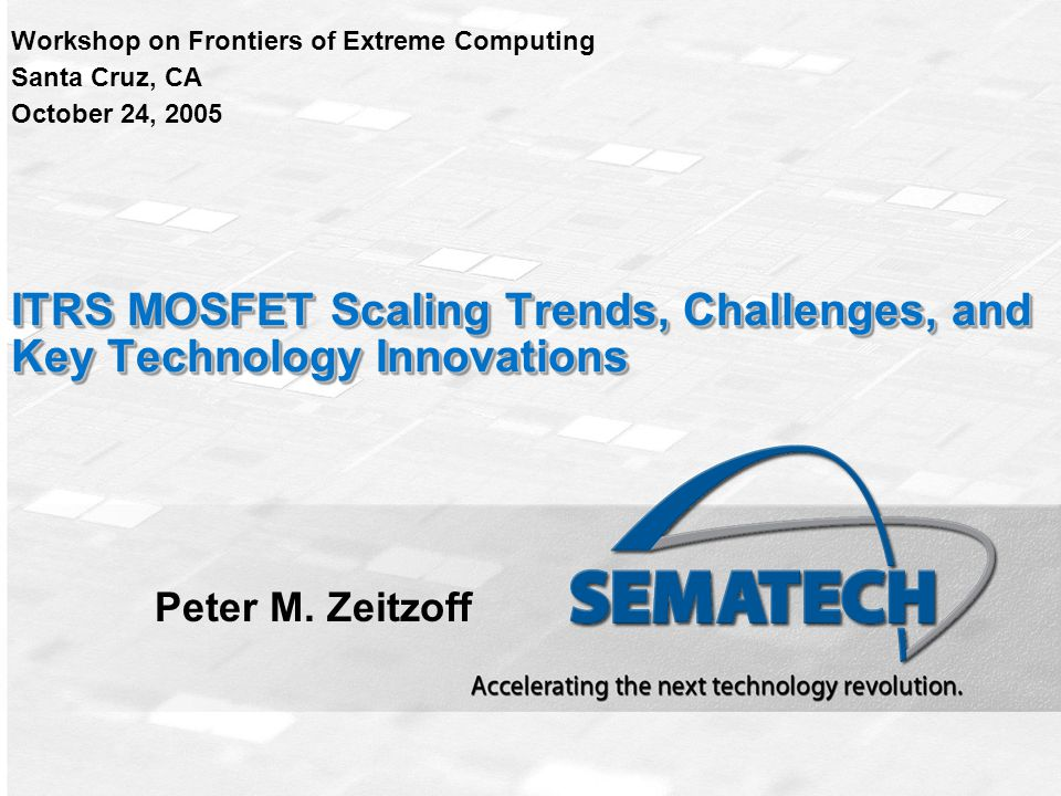 ITRS MOSFET Scaling Trends, Challenges, and Key Technology Innovations