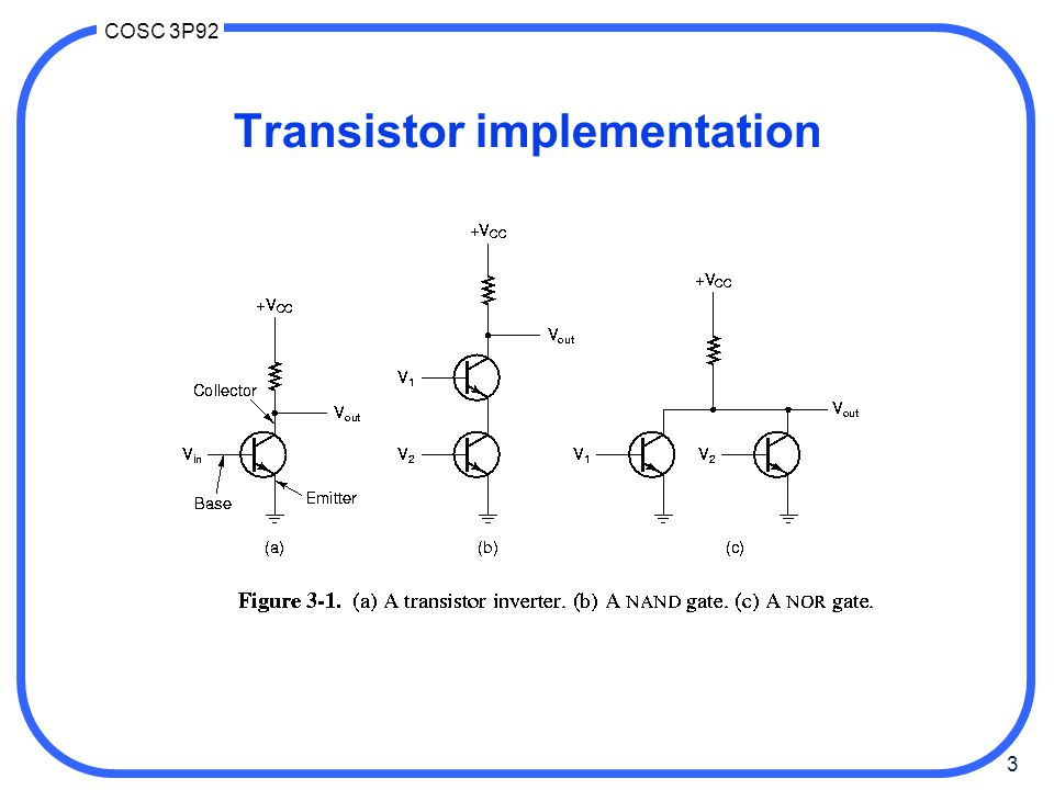 Transistor implementation