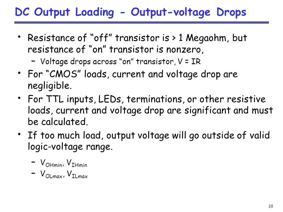 DC Output Loading - Output-voltage Drops
