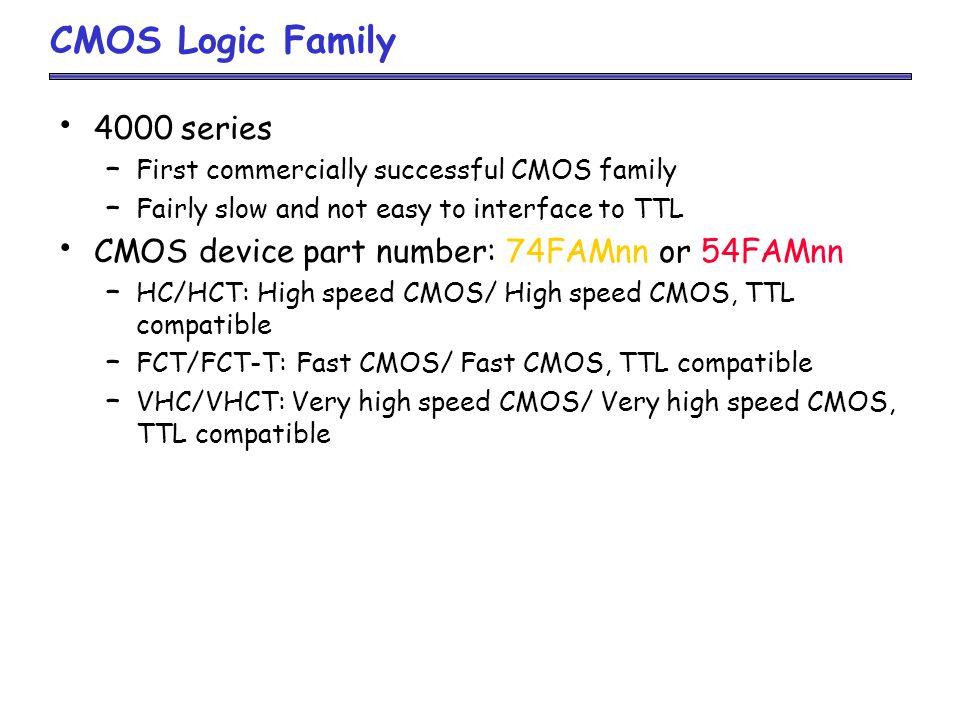 CMOS Logic Family 4000 series