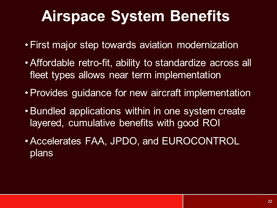 Airspace System Benefits