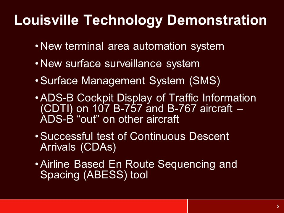 Louisville Technology Demonstration