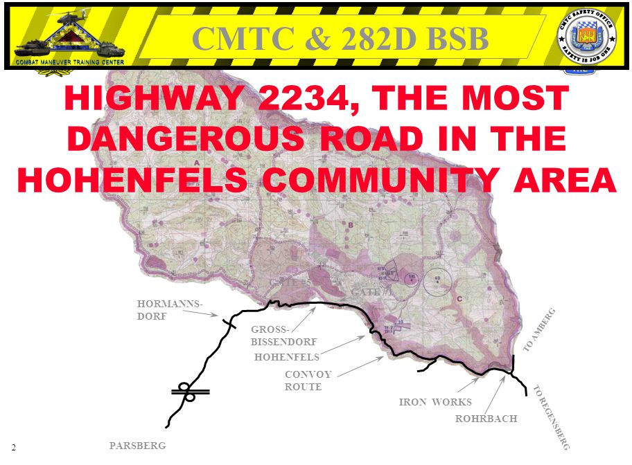 HIGHWAY 2234, THE MOST DANGEROUS ROAD IN THE HOHENFELS COMMUNITY AREA